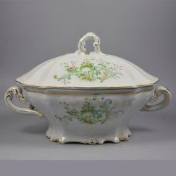 Buckauer Porzellanmanufaktur, Terrine mit Deckel um 1897, D0729-189-25