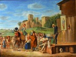 Der Quacksalber, Gemälde um 1800, D2055