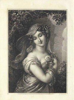 Franz Xaver Stöber (1795-1858; Kupferstich, Psyche, nach Agricola, A0091