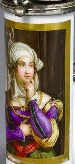 Johann Nepomuk Ender (1793-1854), Agnes Dürer, Porzellanmalerei, Pfeifenkopf, B0035