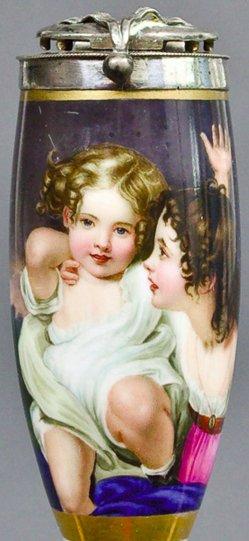 Sir Thomas Lawrence (1769-1830), Emily und Laura Calmady, Porzellanmalerei, Pfeifenkopf, B0134