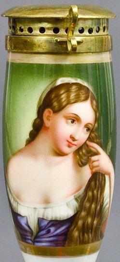 Tizian, (1477od.1488-1576), Frau bei der Toilette, Porzellanmalerei, Pfeifenkopf, B0061