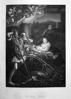 Albert Henry Payne (1812-1902), Die heilige Nacht, nach Correggio, Stahlstich, D1611-324