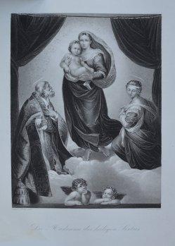 Andrew Duncan (1795-um 1845), Madonna des heiligen Sixtus, nach Raffael, Stahlstich, D1611-332