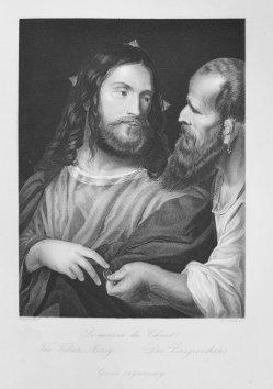 D.J.Pound, Der Zinsgroschen, nach Tizian, Stahlstich, D1611-116