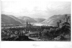 E. Hoefer, Bingen, nach Emminger, Lithographie, D1390
