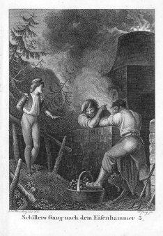 Friedrich Wilhelm Jury (1763-1829), Der Gang nach dem Eisenhammer, nach Ramberg, Kupferstich, A0098