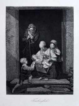 Großvaters Freude, nach Waldmüller, Stahlstich, D1688-2