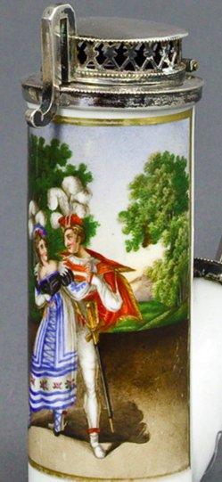 Johann Heinrich Ramberg (1763-1840), Don Giovanni, Porzellanmalerei, Pfeifenkopf, B0311