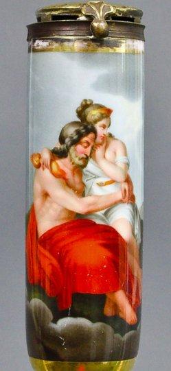 Johann Nepomuk Ender (1793-1854), Weiberlist, Porzellanmalerei, Pfeifenkopf, B0174