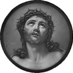 KPM 206, Christuskopf mit der Dornenkrone, nach Reni, Lithophanie