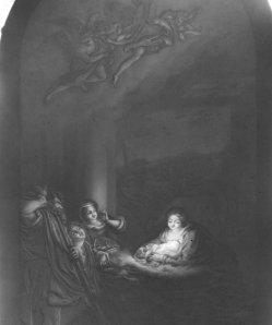 KPM 256 Die Geburt Christi, nach Correggio, Lithophanie