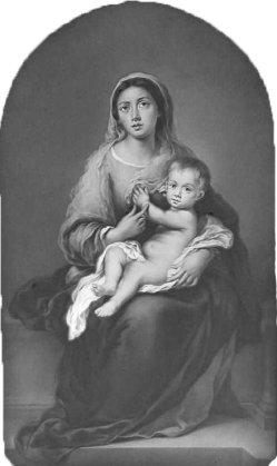 KPM 445 Lithophanie, Madonna mit dem Kinde, nach Murillo