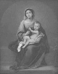 KPM 447 Lithophanie, Madonna mit dem Kinde, nach Murillo