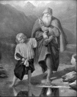 PPM 113 Der Messner, nach Daege, Lithophanie