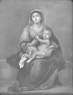 PPM 435 Madonna mit dem Kinde, nach Murillo, Lithophanie