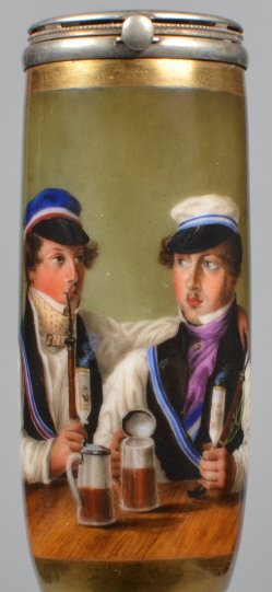 Corpsbrüder, Porzellanmalerei, Pfeifenkopf, D2072