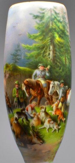 Halali, Porzellanmalerei, Pfeifenkopf, D2070