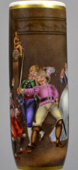 Johann Heinrich Ramberg (1763-1840), Der Barbier von Sevilla, Porzellanmalerei, Pfeifenkopf, D2069