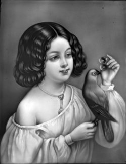 PPM 255 – Kind mit Vogel, sw