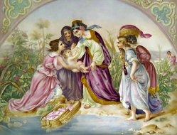 PPM 492 – Die Findung Moses, koloriert
