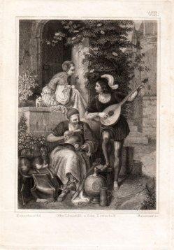 Baumann, Stahlstich, Der Burghof, nach Kretzschmer; D1842