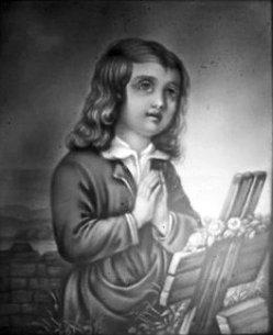 BPM 559 – Kind betend vor einem Grab