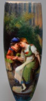 Der Abschied, Porzellanmalerei, Pfeifenkopf, D1002
