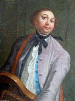 Gemälde, Musiker mit Drehleier, Altmeister, Venedig um 1760, D1891