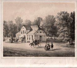 Henning, J, Heringsdorf, Das alte Dinse´sche Haus in der Wilhelmstraße, Lithographie nach W.v.Schack, D0163-1
