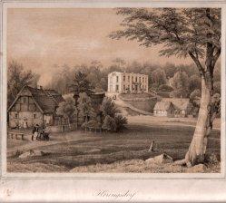 Henning, J., Heringsdorf, Logierhaus in der heutigen Klenzestraße, Lithographie nach W.v.Schack, D0163-2