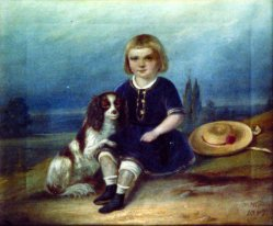 """Hermann Werner (1816-1905), Gemälde 1847 """"Kinderportrait Richard Kricheldorff"""""""