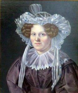 """Hermann Werner (1816-1905), Gemälde 1849, """"Portrait Frau Wichmann"""""""