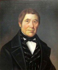 """Hermann Werner (1816-1905), Gemälde 1849, """"Portrait Friedrich Wichmann"""""""