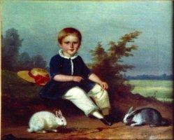 """Hermann Werner (1816-1905), Gemälde 1852 """"Kinderportrait Paul Kricheldorff"""""""