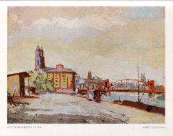 Herbert Stockmann (1913-1947), Alte Eisenbahnbrücke, Ölgemälde, 1934