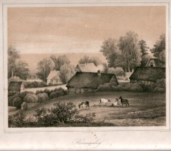 Henning, J., Heringsdorf, Villa Schering (oben rechts), Lithographie nach W.v.Schack,  D0163-4
