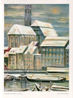 Jan Franz Bartels (1894-1947), Wallonische Kirche, Aquarell, vor 1945
