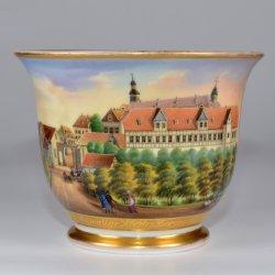 Kloster Berge von der Westseite, Porzellanmalerei, Tasse, D2106