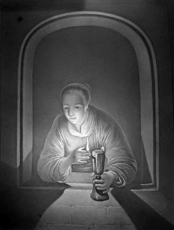 Meißen 29 – Frau mit Lampe