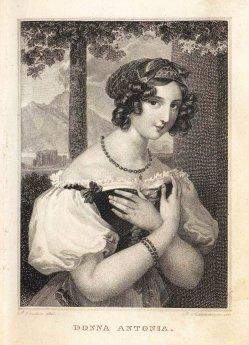 Josef Axmann (1793-1873), Donna Antonia, nach J.N. Ender, Kupferstich, A0111