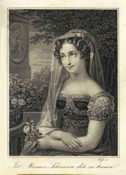 David Weiß (1775-1846), Punktierkupferstich, Ist Männer-Schwüren denn zu trauen, A0121