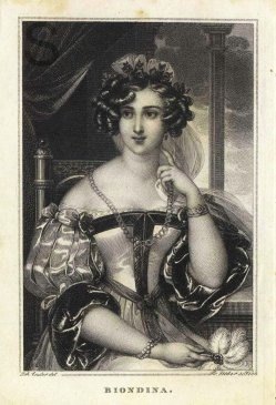 Franz Xaver Stöber (1795-1858), Kupferstich, Biondina, nach Ender, A0124