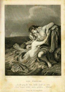 Timothy Stansfield Engleheart (1803-1879), Stahlstich, Der Fischer, nach Hanson, A0113