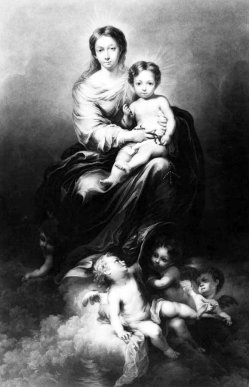 William Say (1768-1834), Virgin and Child, Mezzotinto nach Murillio , A0013