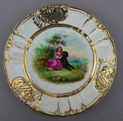 Franz Xaver Winterhalter (1805-1873), Der erste Freund, Porzellanmalerei, Zierteller, D0736-12