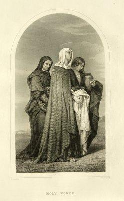 James Charles Armytage (1802 od. 1820-1897), Holy Women, Stahlstich, nach Landelle, D1179