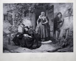 Tony Voncken, La Surprise, Lithographie nach C.W.Hübner, D1501
