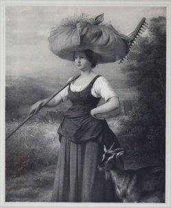 Paul Rohrbach (*1817), Das Landmädchen, Lithographie nach F.E.Meyerheim, D1659