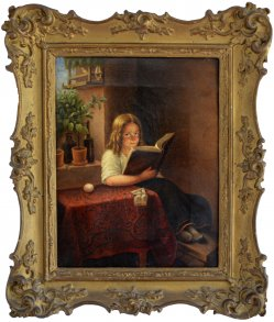 1697 Franz Thelen, Lesendes Mädchen bearbeitet